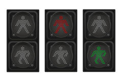 Traffic light for pedestrians vector illustration Royalty Free Stock Image