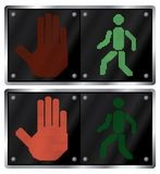 Traffic light for people. Stock Images