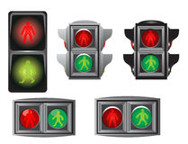 Traffic light for peoples Stock Images