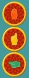 Traffic light and pointer finger Stock Images