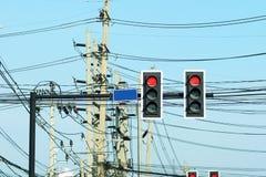 Traffic light poles Royalty Free Stock Photos