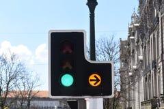 Traffic light, Porto, Royalty Free Stock Photography
