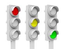 The traffic light process Royalty Free Stock Photos