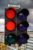 Traffic light on race track Royalty Free Stock Images