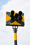 Traffic light on railway Royalty Free Stock Image