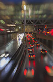 Traffic light in rain city Royalty Free Stock Image