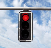 Traffic light - red against sky Stock Photography
