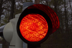 Traffic light on red, 2015 Royalty Free Stock Photo