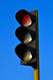 Traffic light red color Royalty Free Stock Photo