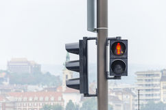 Traffic light. Red color. Royalty Free Stock Photography