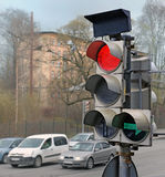 The traffic light on red Stock Photography