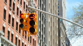 Traffic light red green transition. Traffic light red and green transition stock video footage