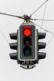 Traffic light with red light. A traffic light with red light. symbolic photo for maintenance, economy, failure royalty free stock photo