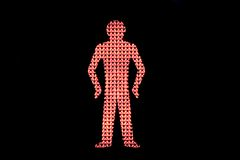 Traffic light red man Stock Image