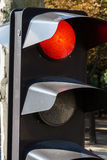 Traffic light on red Stock Photography