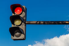 Traffic light on red. Paris France, traffic light with red light Stock Photos