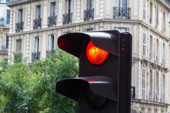 Traffic light on red Royalty Free Stock Photo