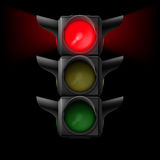 Traffic light with red on Stock Photos