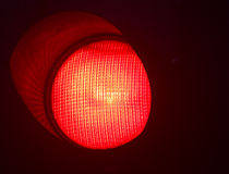 Traffic light red stop Stock Image