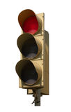 Traffic light. A red light. On a white background, isolated Royalty Free Stock Photography