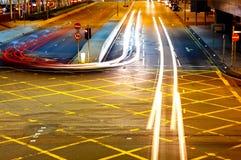 Traffic light on roadway Stock Photo