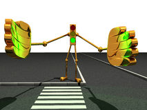 Traffic light robot Stock Image
