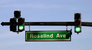 Traffic Light on Rosalind Ave - FLBusiness00040a Royalty Free Stock Photos