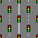 Traffic light seamless pattern background Royalty Free Stock Photography