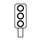Traffic Light Semaphore Icon Royalty Free Stock Photo