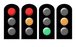 Traffic light sequence Royalty Free Stock Photo