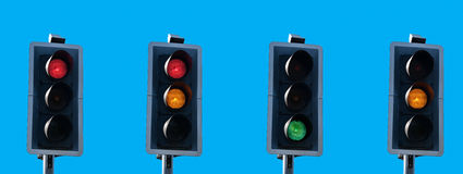 Traffic light sequence Royalty Free Stock Photography