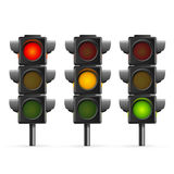 Traffic Light Sequence. Vector. Traffic Light Sequence on White Background. Vector illustration Stock Image
