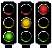 Traffic Light Set Royalty Free Stock Images