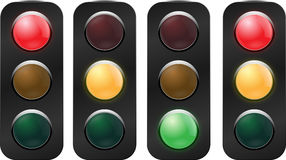 Traffic light  set Stock Photos