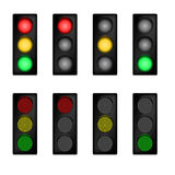 Traffic light set Royalty Free Stock Photo