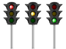 Traffic light set. On a white background Royalty Free Stock Photos