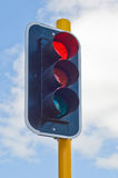 Traffic light showing the Red light Royalty Free Stock Photo