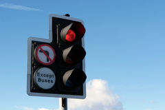 Traffic light showing red stop sign Royalty Free Stock Photo
