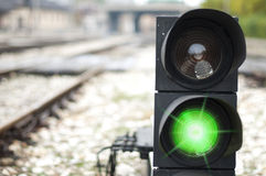 Traffic light shows green signal Royalty Free Stock Image