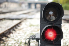 Traffic light shows red signal Stock Image