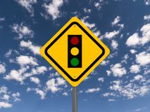 Traffic light sign Royalty Free Stock Photos