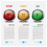 Traffic Light Sign Infographic Royalty Free Stock Photography