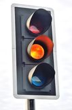 Traffic Light signal  at Amber Royalty Free Stock Image