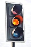 Traffic Light signal  at Amber Royalty Free Stock Image