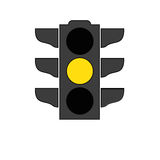 Traffic light signal icon Royalty Free Stock Photography