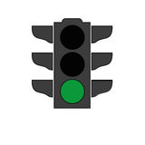 Traffic light signal icon Stock Photo