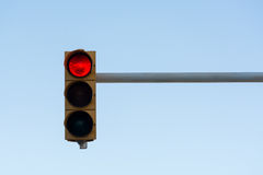 Traffic light on a sky background Royalty Free Stock Photography