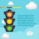 Traffic Light Sky Background Template vector Stock Photos