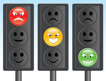 Traffic light smiley Royalty Free Stock Image