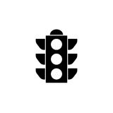 Traffic light solid icon, stoplight and navigation. Traffic light solid icon, stop light and navigation, vector graphics, a filled pattern on a white background Royalty Free Stock Images